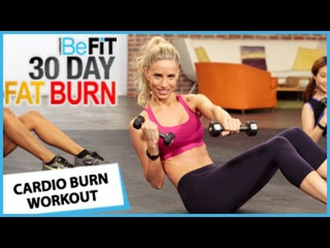 30 day fat burn workout  day 7  cardio burn  the